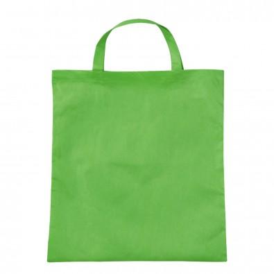 Vliestasche Textile mit kurzen Henkeln Hellgrün