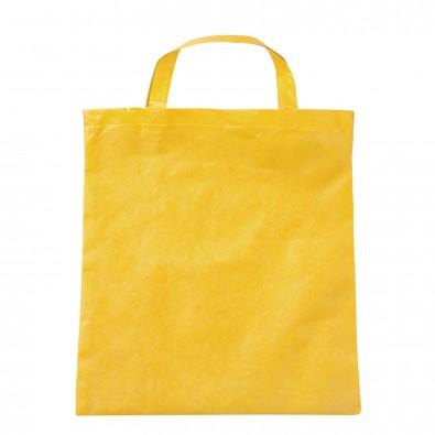 Vliestasche Textile mit kurzen Henkeln Gelb