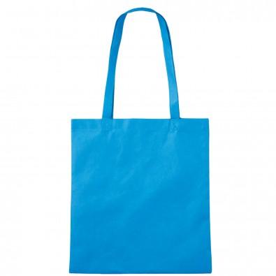Vliestasche Textile mit langen Henkeln, Hellblau