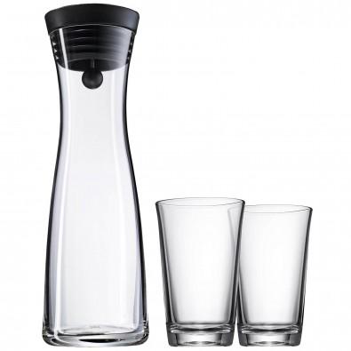 WMF Wasserkaraffe Basic mit 2 Gläser, 3-tlg.