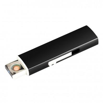 Metall-Zigarettenanzünder mit USB-Ladefunktion, Schwarz