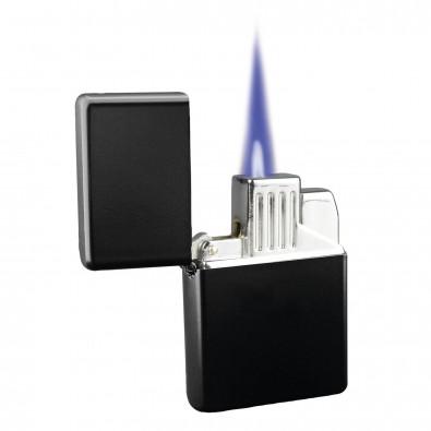 metall jet flame feuerzeug american style matt schwarz. Black Bedroom Furniture Sets. Home Design Ideas