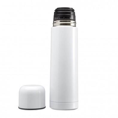 Isolierkanne Mono Weiß-Metallic | 0,5l