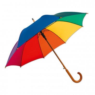 Stockschirm mit manueller Öffnung Regenbogenfarben | Automatische Öffnung