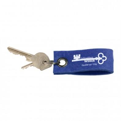 Filz-Schlüsselanhänger, Dunkelblau