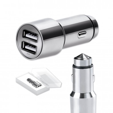 CarCharger mit Notfallhammer Steel