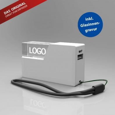 Powerbank 3D, 2600 mAh, Weiß