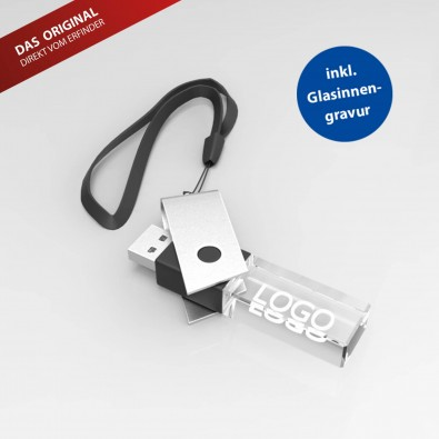 USB-Stick TURN 3D, 8 GB, Schwarz