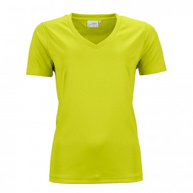 Original James & Nicholson Damen Funktions T-Shirt Active Acid-Yellow | L