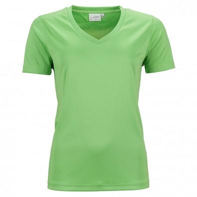 Original James & Nicholson Damen Funktions T-Shirt Active Lime-Green | M