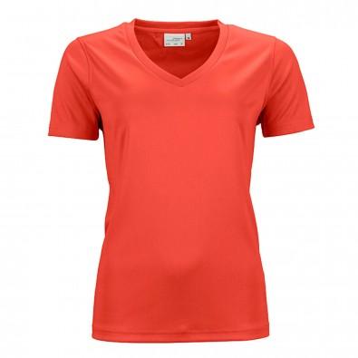 Original James & Nicholson Damen Funktions T-Shirt Active Grenadine | S
