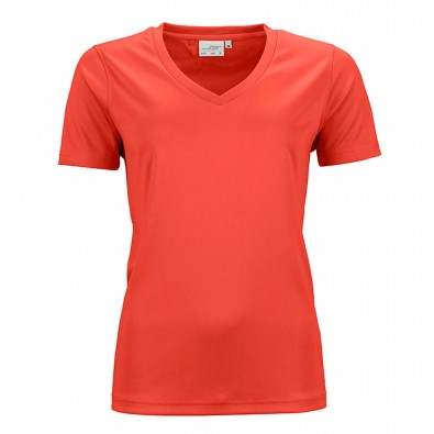 Original James & Nicholson Damen Funktions T-Shirt Active Grenadine | M