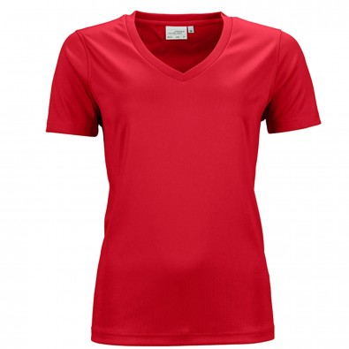 Original James  Nicholson Damen Funktions T-Shirt Active, Red, L