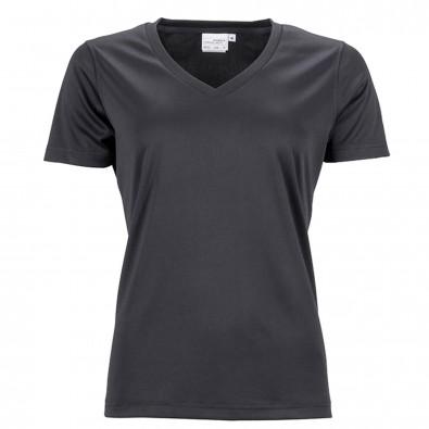 Original James & Nicholson Damen Funktions T-Shirt Active Black | L