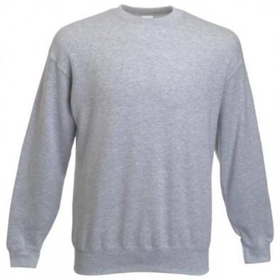 Original Fruit of the Loom® Set-In Sweat-Shirt, Grau/Melliert, M