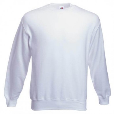 Original Fruit of the Loom Set-In Sweat-Shirt Weiß | XL