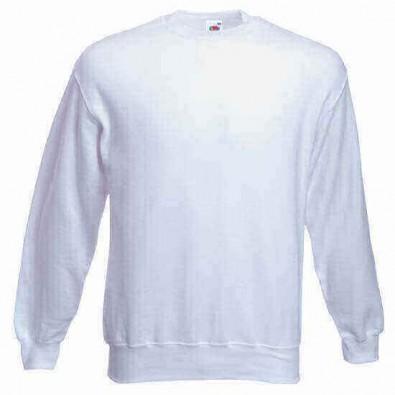 Original Fruit of the Loom® Set-In Sweat-Shirt, Weiß, XXL