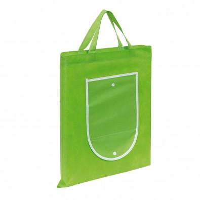 Faltbare Einkaufstasche Colour, Apfelgrün/Weiß