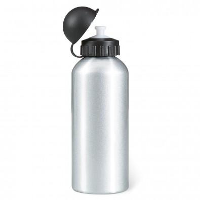 Metall-Trinkflasche Aktiv Silber