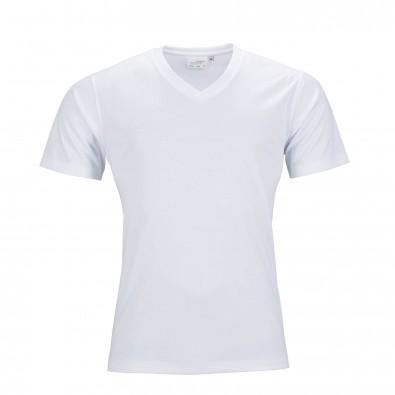 Original James  Nicholson Herren Funktions T-Shirt Active, White, L