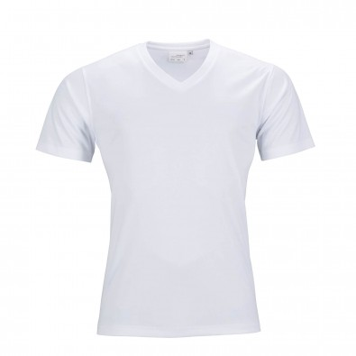 Original James & Nicholson Herren Funktions T-Shirt Active White | S
