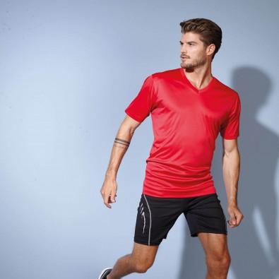 Original James  Nicholson Herren Funktions T-Shirt Active, Red, L