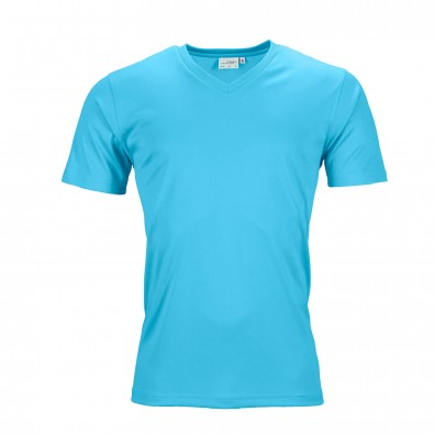 Original James  Nicholson Herren Funktions T-Shirt Active, Turquoise, L