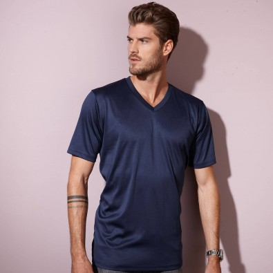 Original James  Nicholson Herren Funktions T-Shirt Active, Navy, L