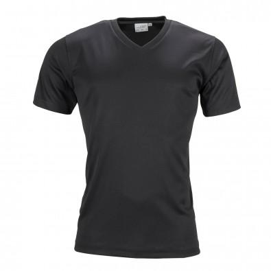 Original James  Nicholson Herren Funktions T-Shirt Active, Black, L