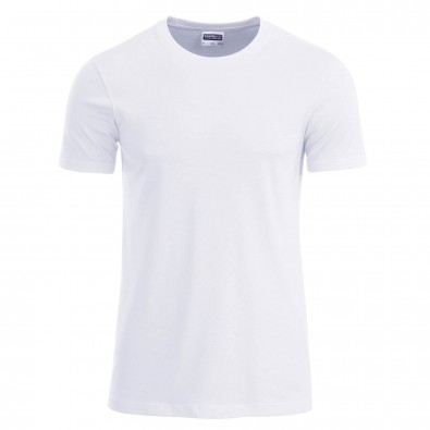 Original James & Nicholson Basic T-Shirt aus Bio-Baumwolle White | S
