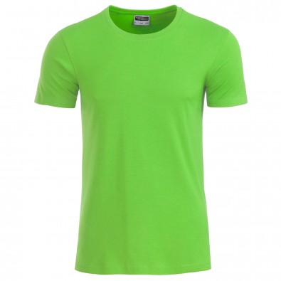 Original James & Nicholson Basic T-Shirt aus Bio-Baumwolle Lime-Green | M