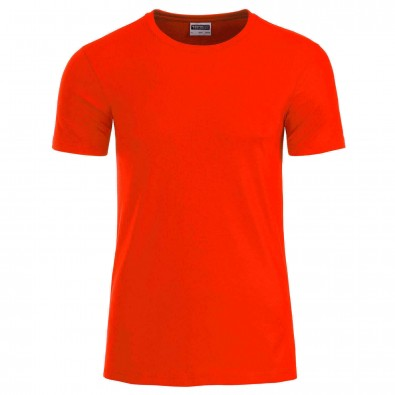 Original James & Nicholson Basic T-Shirt aus Bio-Baumwolle Grenadine | M