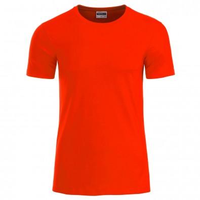 Original James  Nicholson Herren Basic T-Shirt aus Bio-Baumwolle, Grenadine, XXL