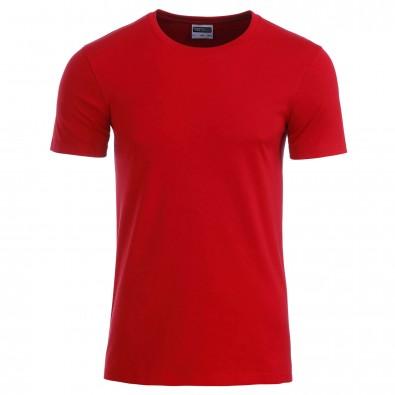 Original James & Nicholson Basic T-Shirt aus Bio-Baumwolle Red | M