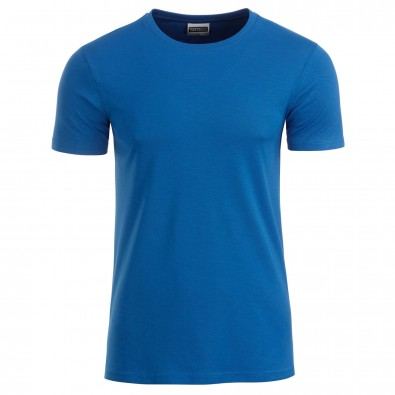 Original James & Nicholson Basic T-Shirt aus Bio-Baumwolle Royal | M