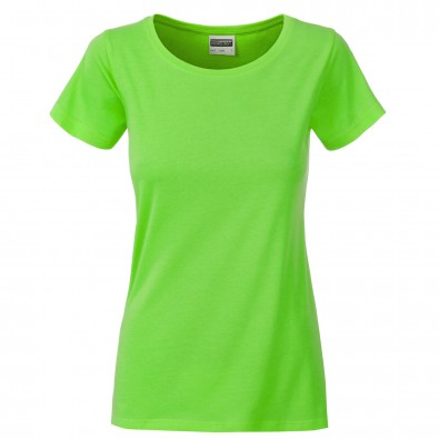 Original James  Nicholson Damen Basic T-Shirt aus Bio-Baumwolle, Lime-Green, XS