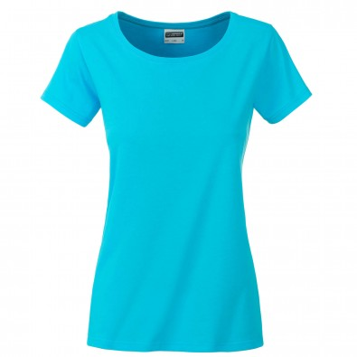 Original James & Nicholson Basic T-Shirt aus Bio-Baumwolle Turquoise | XS