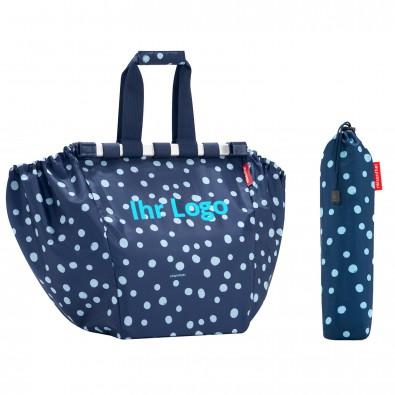 Original Reisenthel® Easyshoppingbag Spots Navy, Dunkelblau