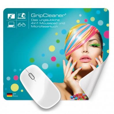 4in1 Microfaser-Mousepad GripCleaner, Eckig, 20 x 23 cm