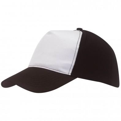 5-Panel-Cap Breezy, Schwarz/Weiß