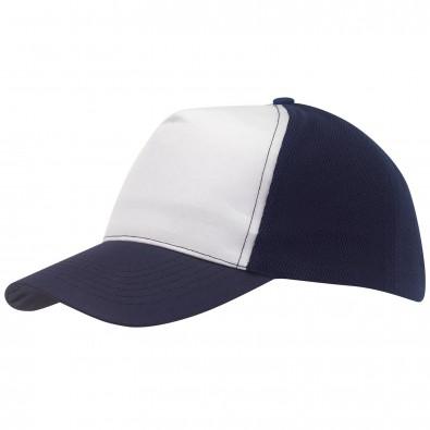 5-Panel-Cap Breezy Marineblau/Weiß