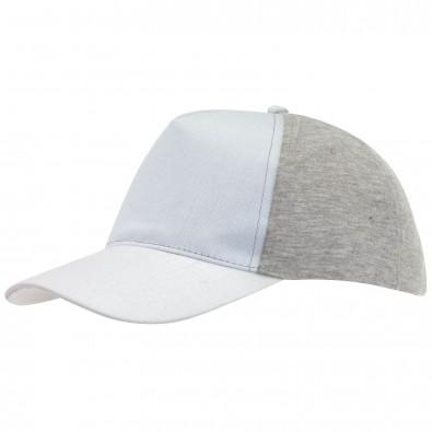5-Panel-Cap Trend Weiß/Grau