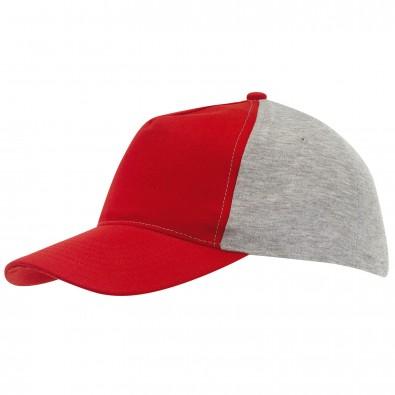 5-Panel-Cap Trend Rot/Grau