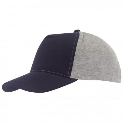 5-Panel-Cap Trend Dunkelblau/Grau