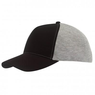 5-Panel-Cap Trend Schwarz/Grau