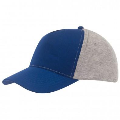 5-Panel-Cap Trend Royalblau/Grau
