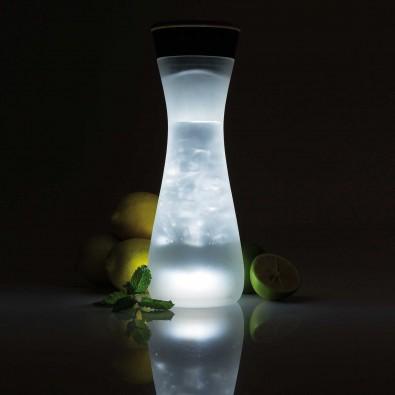 Glaskaraffe mit Licht Lumm