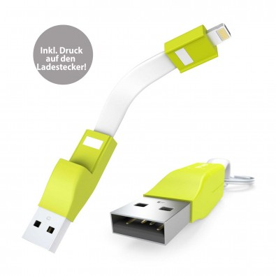 Ladekabel 2in1 ZWEINS® PLUS Lime Explosion, Lime Explosion (Pantone 381 C)