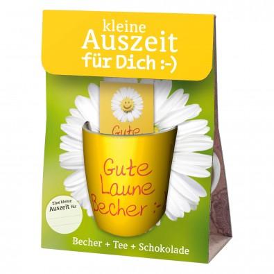 """Geschenkset Kleine Auszeit für dich: """"Gute Laune Becher"""""""