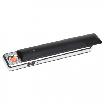 USB-Zigarettenanzünder inkl. Ladekabel, Schwarz/Silber